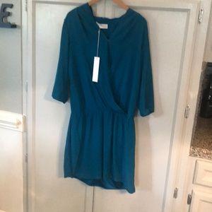 Amanda Uprichard blue silk dress.